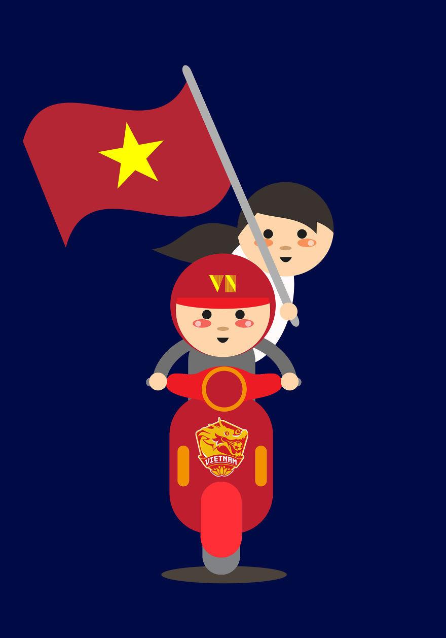 Giao thông Việt Nam, 'ninja Lead' qua lăng kính của họa sĩ Philippines Ảnh 13