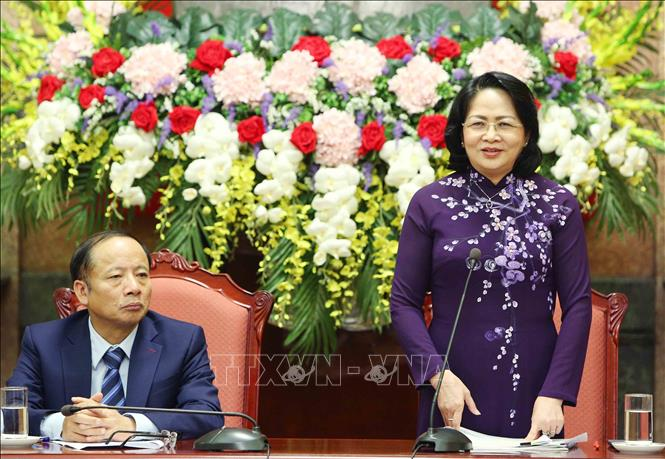 Quyền Chủ tịch nước Đặng Thị Ngọc Thịnh gặp mặt đại biểu doanh nghiệp nhỏ và vừa Ảnh 1