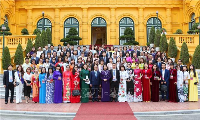 Quyền Chủ tịch nước Đặng Thị Ngọc Thịnh gặp mặt đại biểu doanh nghiệp nhỏ và vừa Ảnh 3
