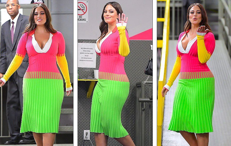 'Siêu mẫu béo' Ashley Graham đẫy đà với đầm nhiều màu rực rỡ Ảnh 5