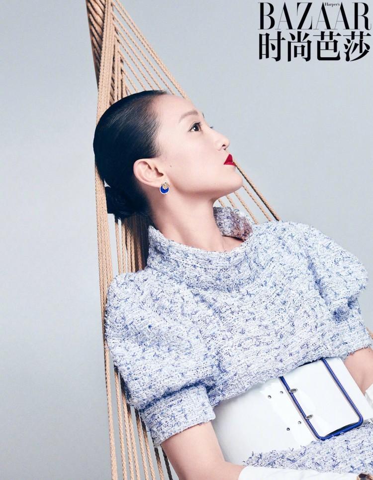 Bộ ảnh độc lạ của 'Hoàng hậu' Châu Tấn và Thái Từ Khôn trên tạp chí BAZAAR Ảnh 2