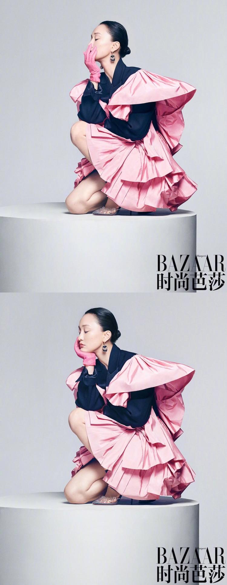 Bộ ảnh độc lạ của 'Hoàng hậu' Châu Tấn và Thái Từ Khôn trên tạp chí BAZAAR Ảnh 7