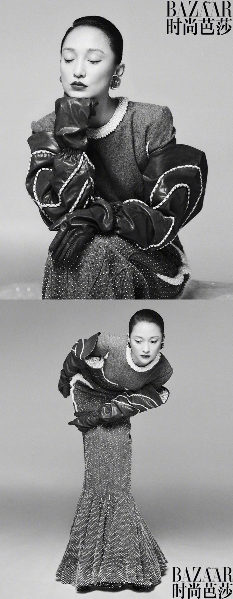 Bộ ảnh độc lạ của 'Hoàng hậu' Châu Tấn và Thái Từ Khôn trên tạp chí BAZAAR Ảnh 9