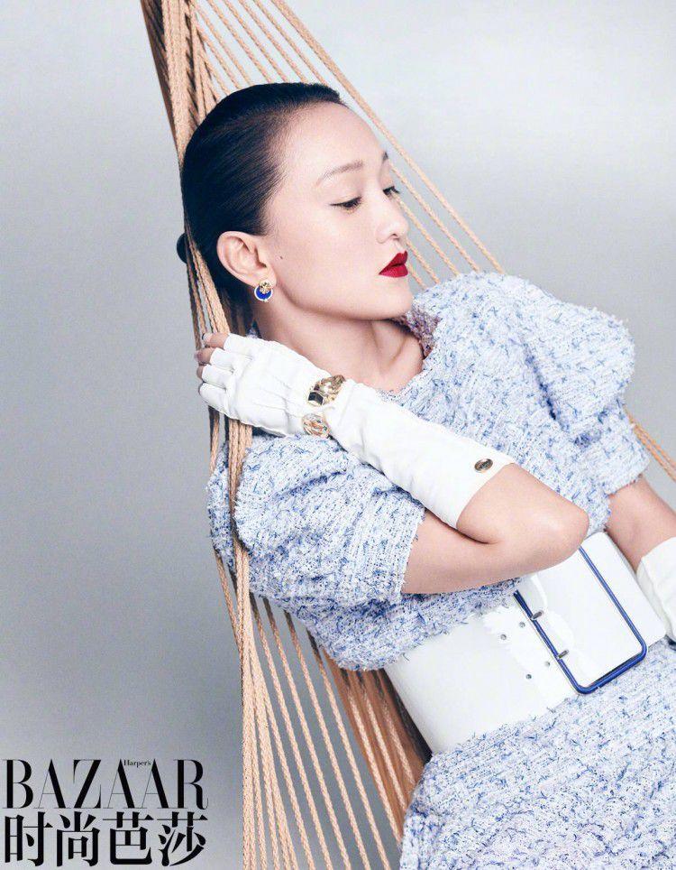 Bộ ảnh độc lạ của 'Hoàng hậu' Châu Tấn và Thái Từ Khôn trên tạp chí BAZAAR Ảnh 1