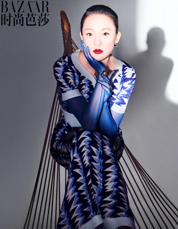 Bộ ảnh độc lạ của 'Hoàng hậu' Châu Tấn và Thái Từ Khôn trên tạp chí BAZAAR Ảnh 6