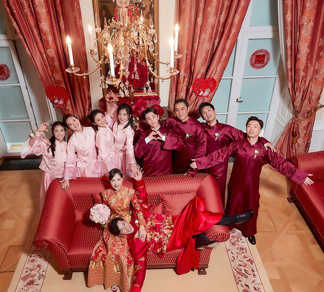Đường Yên - La Tấn 'khóa môi' ngọt ngào trong đám cưới cổ tích Ảnh 11