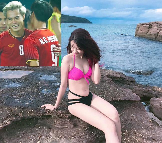 Bạn gái Quang Hải mặc áo tắm sexy nhất dàn bồ cầu thủ AFF Cup Ảnh 11