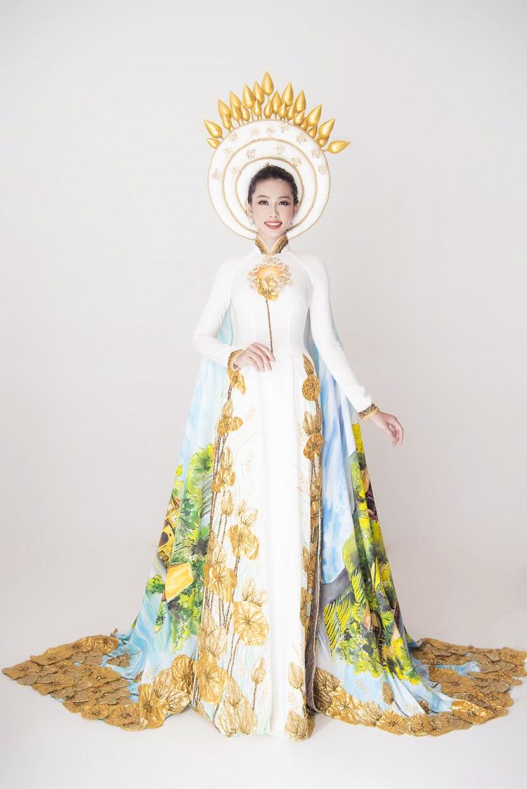 Sau chiến thắng vang dội của Phương Khánh, Thùy Tiên càng được chú ý hơn khi công bố trang phục dân tộc ở Miss International 2018 Ảnh 4