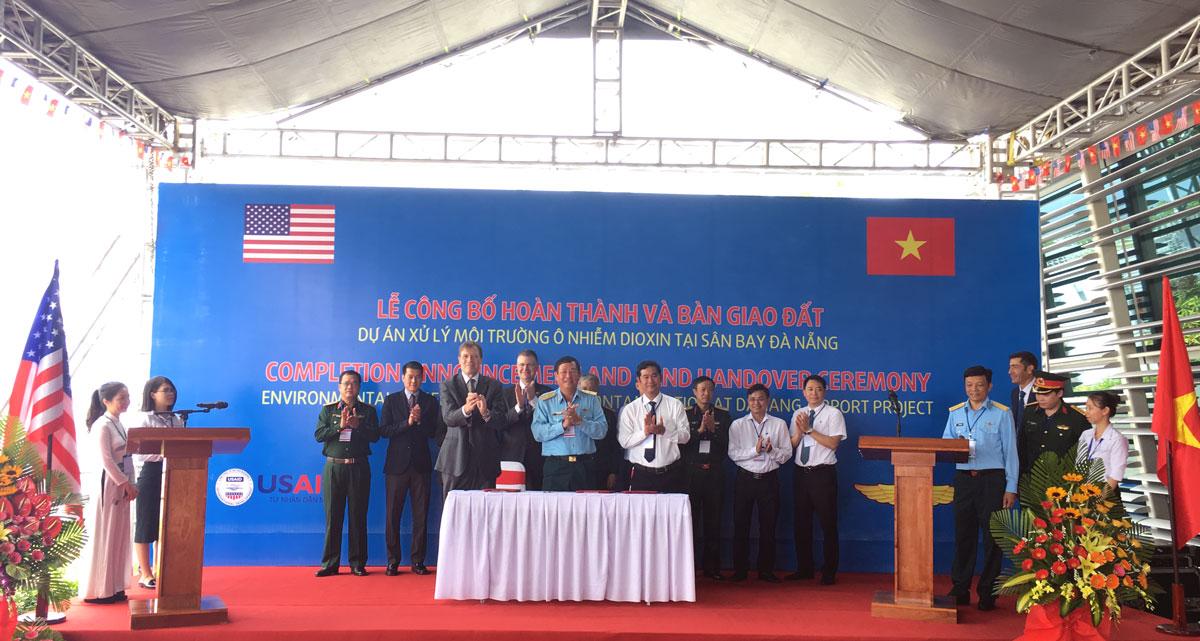 Hoàn thành dự án xử lý môi trường ô nhiễm dioxin tại sân bay Đà Nẵng Ảnh 1