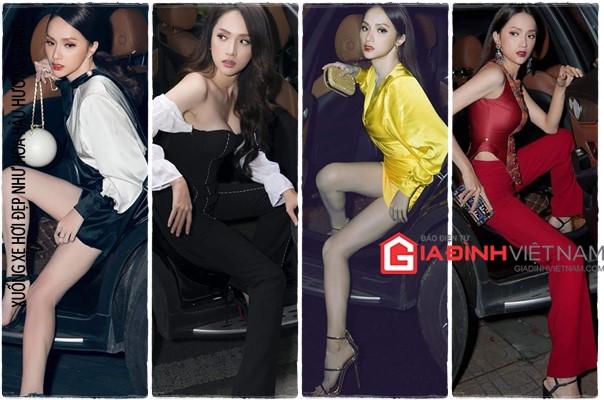Hoa hậu Hương Giang chỉ cách xuống xe hơi thần thái sang chảnh nhất Ảnh 1