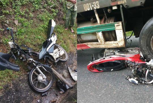 Xe container tông hàng loạt xe máy, 4 người thương vong Ảnh 1