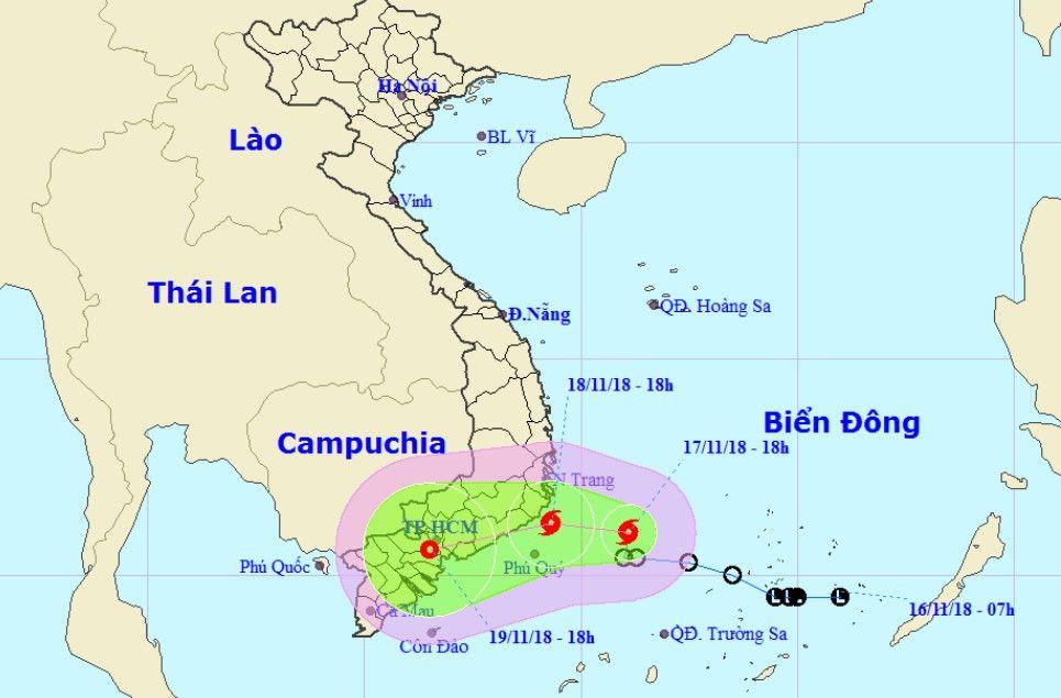 Bão số 8 chệch xuống đồng bằng Nam Bộ, gây mưa lớn diện rộng Ảnh 1