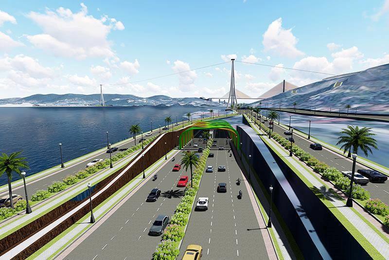 Quảng Ninh: Hầm đường bộ qua vịnh Cửa Lục là hầm vỏ thép do người Nhật thiết kế Ảnh 1