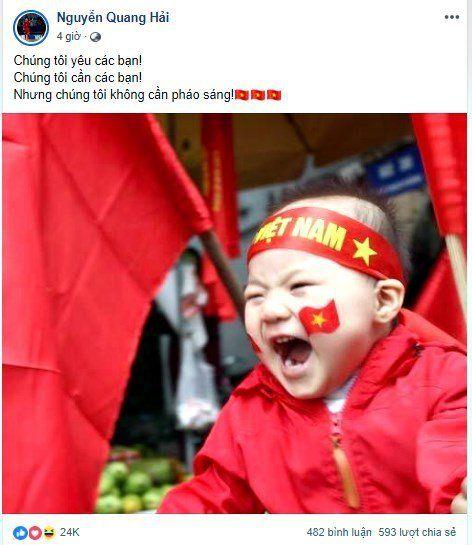 Quang Hải, Bùi Tiến Dũng: 'Chúng tôi không cần pháo sáng' Ảnh 1