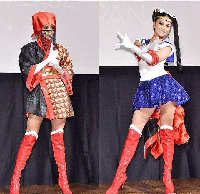 Với trang phục dân tộc có 1-0-2 này, hoa hậu Lào sẽ di chuyển, đứng ngồi ra sao Ảnh 4