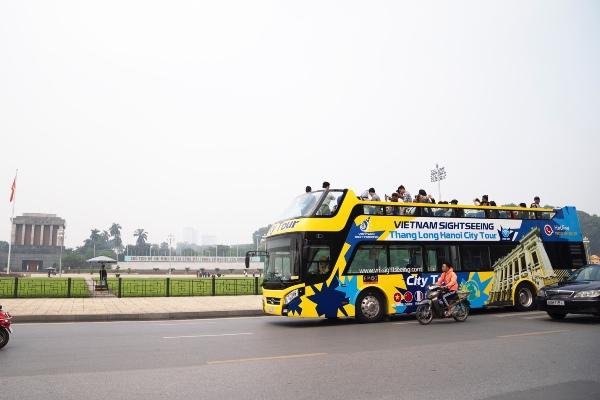 Hà Nội có thêm tuyến xe bus 2 tầng phục vụ khách du lịch Ảnh 1