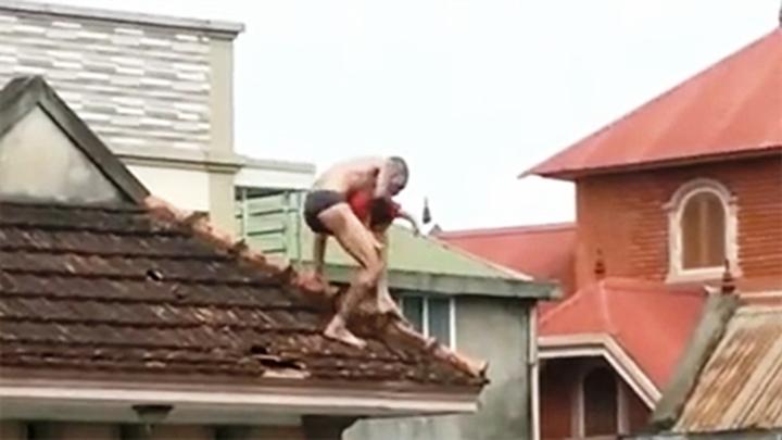 Khởi tố đối tượng ngáo đá xách con trên mái nhà Ảnh 5