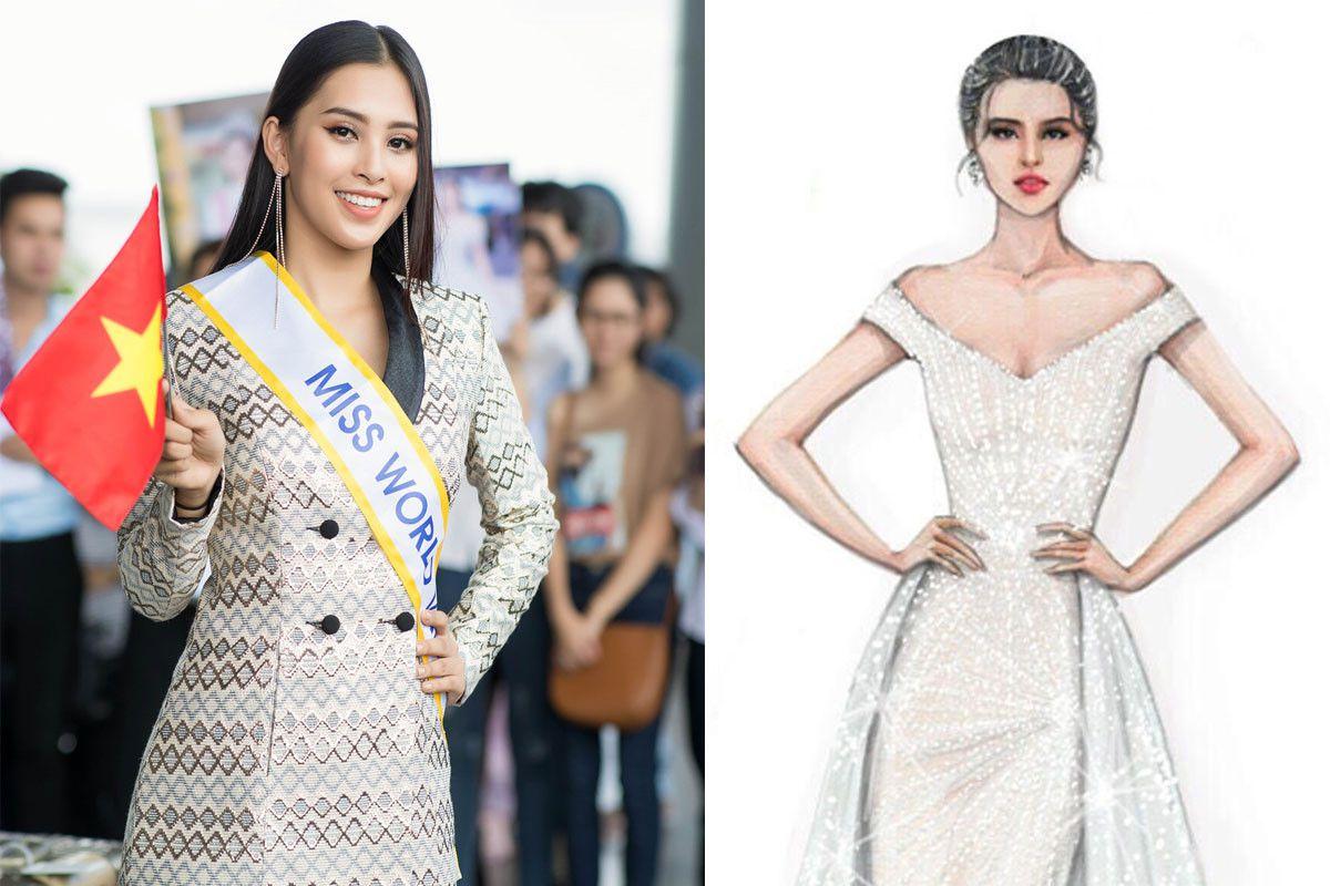 Tiểu Vy khoe dáng trong váy đuôi cá tại chung kết 'Hoa hậu Thế giới' Ảnh 1