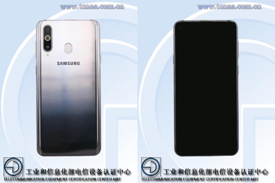 Samsung Galaxy A8s sẽ có máy quét vân tay hình bầu dục kỳ thú Ảnh 1