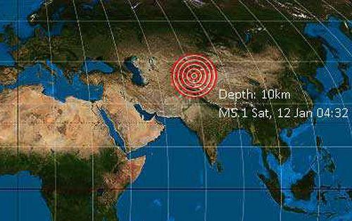 Động đất rung chuyển khu tự trị Tân Cương (Trung Quốc) Ảnh 1
