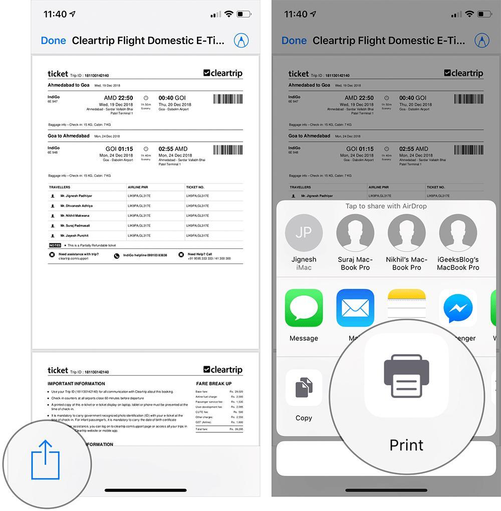 Hướng dẫn in không dây từ iPhone và iPad Ảnh 2