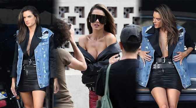 Hậu trường chụp ảnh nóng bỏng của siêu mẫu Alessandra Ambrosio Ảnh 1