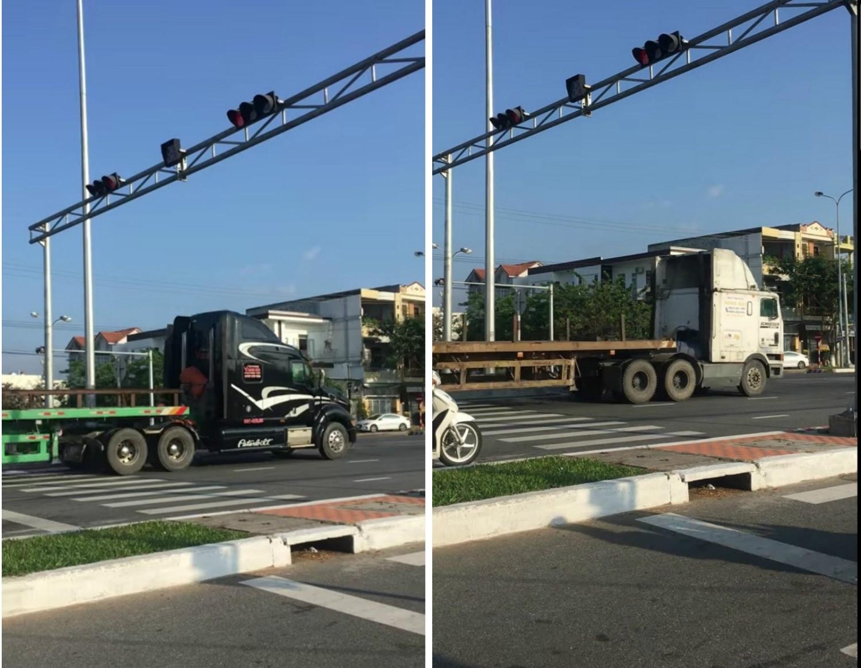 Tước bằng lái 3 tài xế xe đầu kéo vượt đèn đỏ trên tuyến đường 'tử thần' Ảnh 1