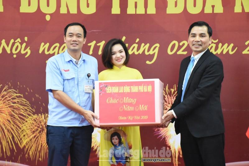 CNLĐ tại các Khu Công nghiệp Hà Nội: Khí thế thi đua sản xuất ngay từ ngày đầu năm mới Ảnh 1