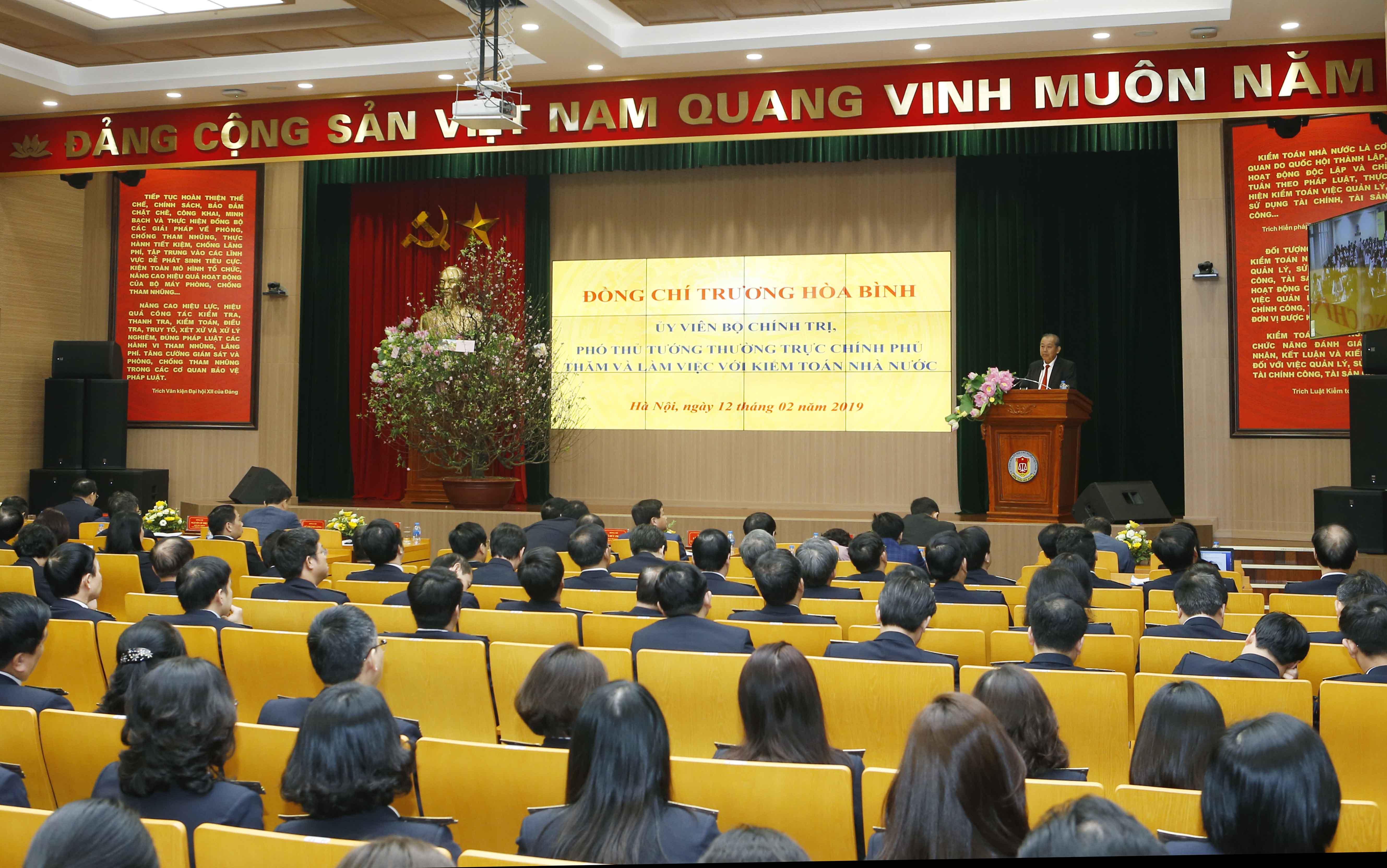Phó Thủ tướng Trương Hòa Bình thăm và chúc Tết Kiểm toán Nhà nước Ảnh 2