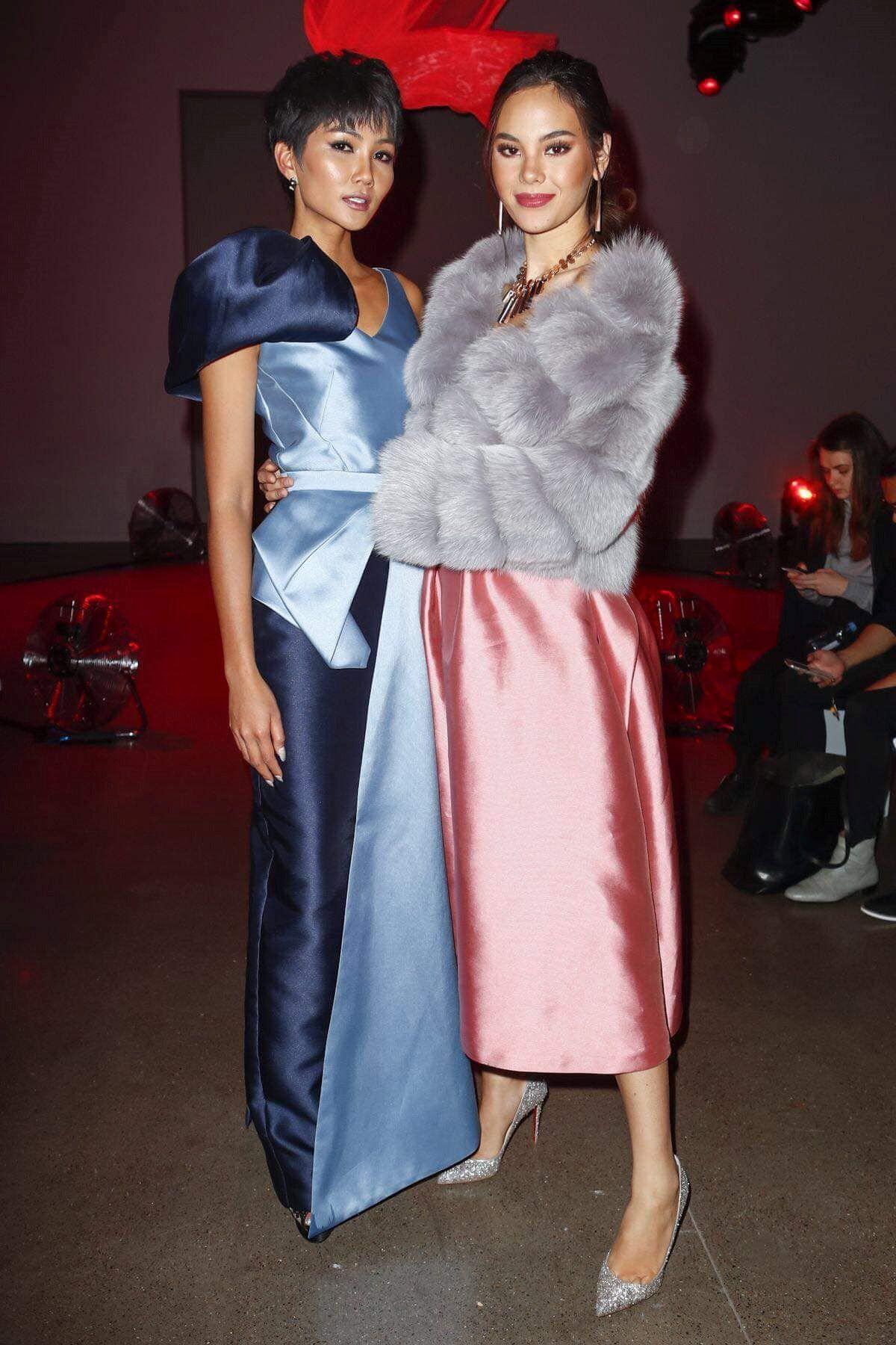 H'Hen Niê hội ngộ Hoa hậu Hoàn vũ tại Tuần lễ Thời trang New York Ảnh 2