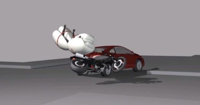 Phát kiến thú vị: Túi khí cho xe máy? Ảnh 3