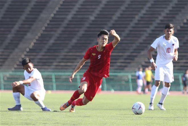 Giải U22 Đông Nam Á: Thắng Philippines, Việt Nam giành 3 điểm đầu tiên Ảnh 1