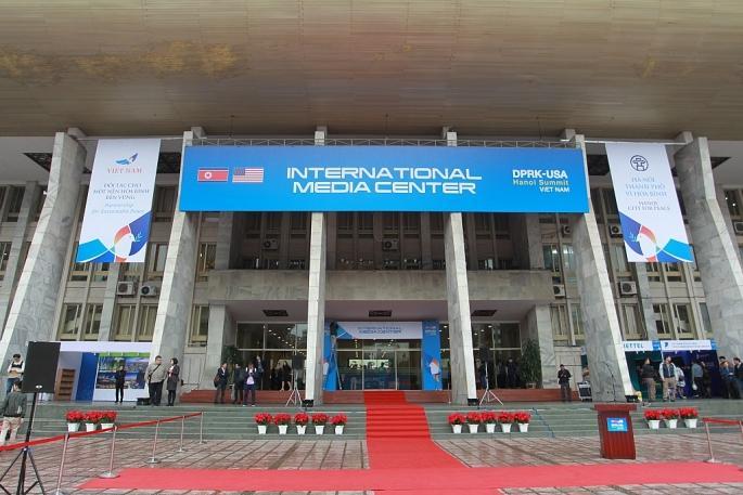 Toàn cảnh Trung tâm báo chí quốc tế phục vụ Hội nghị Thượng đỉnh Triều Tiên - Hoa Kỳ Ảnh 1