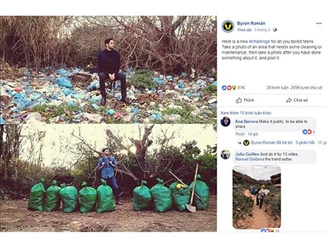 Thử thách dọn rác thành trào lưu đẹp, 'gây bão' mạng xã hội như thế nào? Ảnh 1