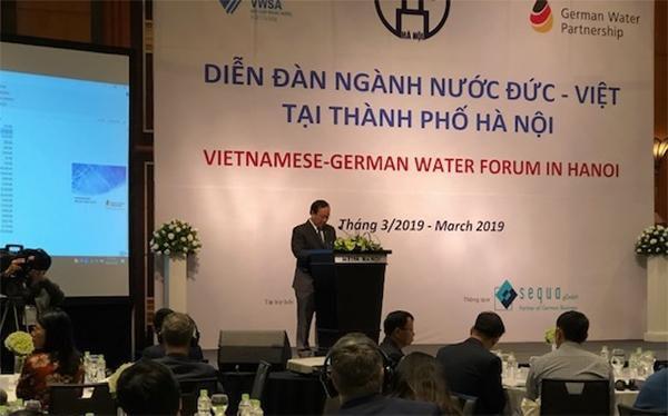 Hà Nội hợp tác với Đức đầu tư công nghê cấp thoát nước Ảnh 1