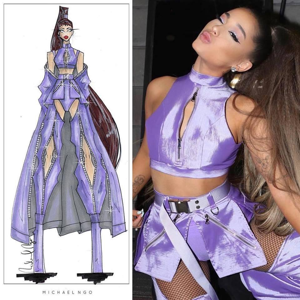 Tin được không, Ariana Grande diện đồ của NTK gốc Việt lên sân khấu! Ảnh 4