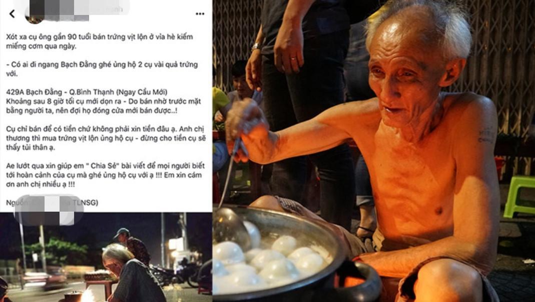 Người Sài Gòn chung tay mua trứng giúp cụ ông 90 tuổi vẫn mưu sinh Ảnh 1