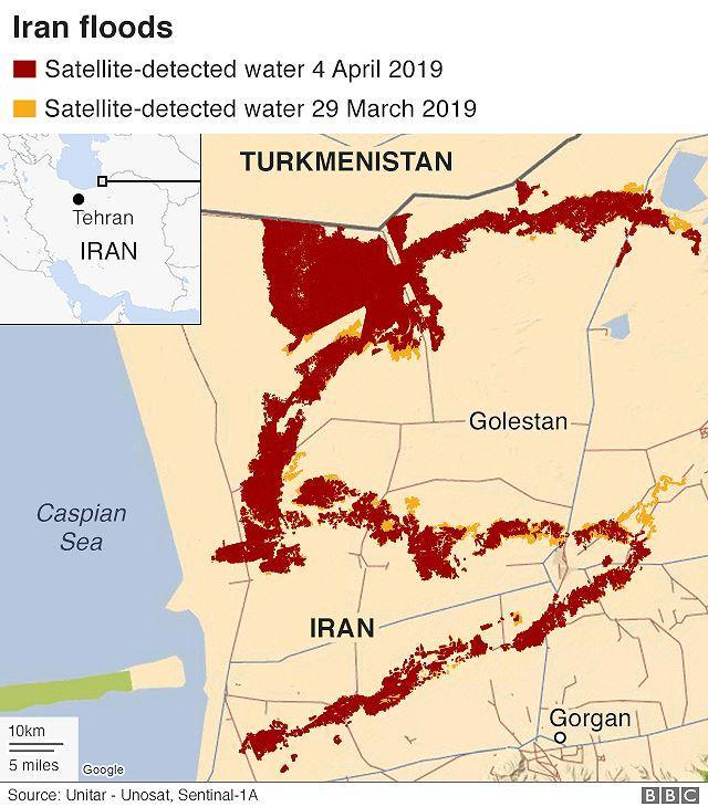 Mưa lớn bất ngờ gây lũ lụt, hàng nghìn người dân Iran phải sơ tán Ảnh 2