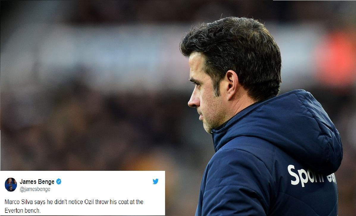 Bị Ozil ném áo khoác, Marco Silva phản ứng bất ngờ Ảnh 1