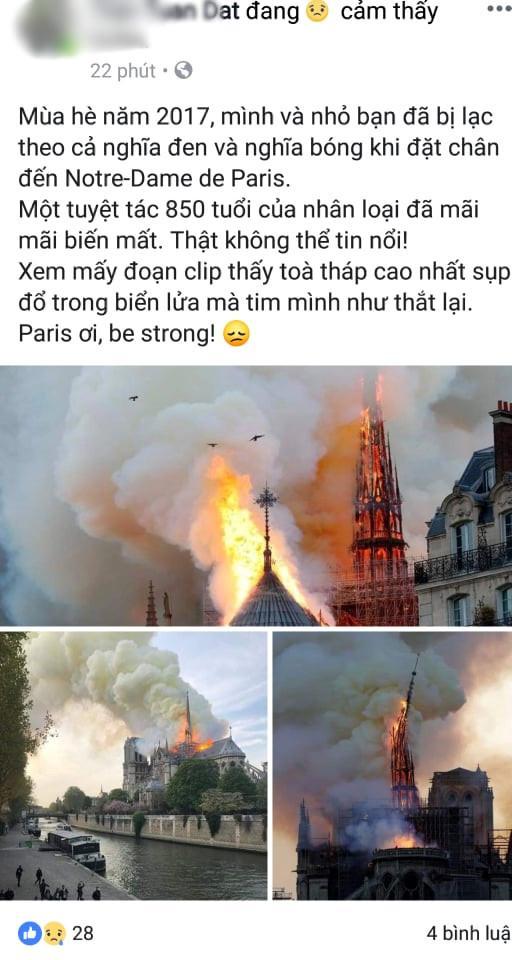 Nóng mạng xã hội: Nhà thờ Đức Bà Paris cháy lớn, 'tất cả còn trong ký ức!' Ảnh 2