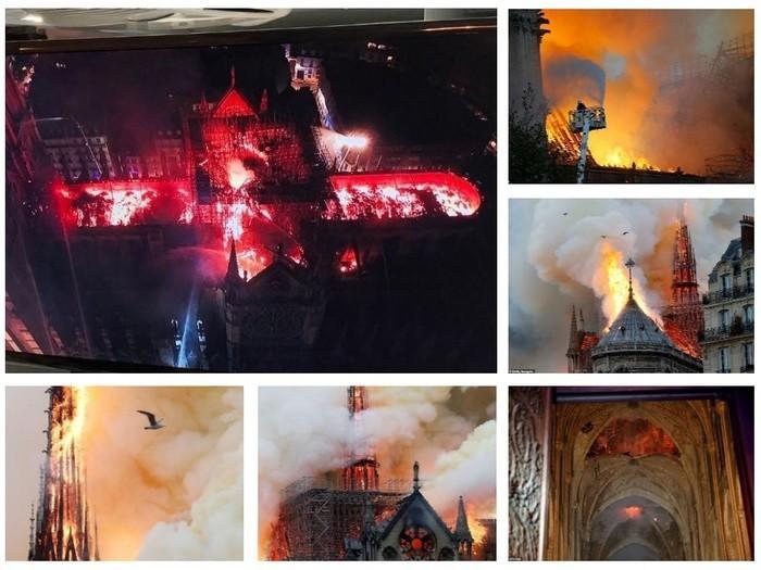 Nhà thờ Đức Bà Paris: Toàn cảnh hiện trường sau đám cháy lịch sử Ảnh 1