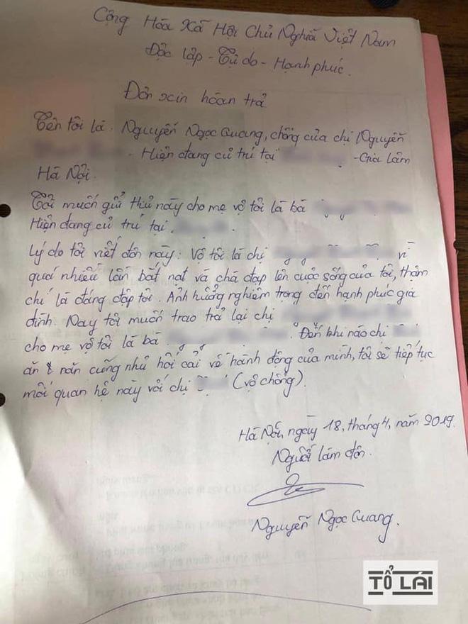 Chán nản vì bị đánh đuổi quanh làng, người đàn ông viết đơn trả vợ về 'nơi sản xuất' Ảnh 3