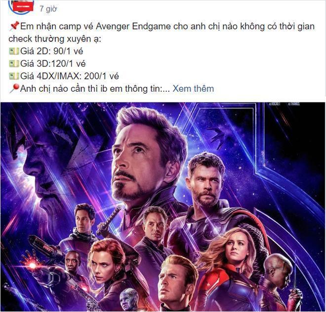 Nở rộ dịch vụ nhận đặt vé 'Avengers: Endgame' ăn chênh, hàng chợ đen đắt gấp 3 lần Ảnh 2