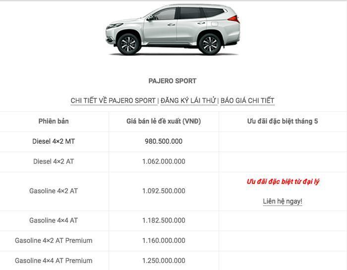 Bảng giá xe Mitsubishi tháng 5/2019: Mitsubishi Outlander giảm 52 triệu đồng Ảnh 10