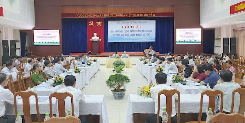 Tăng cường ứng dụng tiến bộ KH&CN phục vụ sản xuất và đời sống tại Quảng Nam Ảnh 1