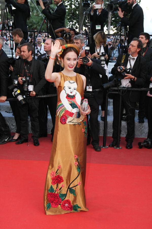 Khắc hẳn Ngọc Trinh, Nhã Phương, Tuyết Nga, Lý Nhã Kỳ khiến fan tự hào vì mang văn hóa Việt tới Cannes Ảnh 9
