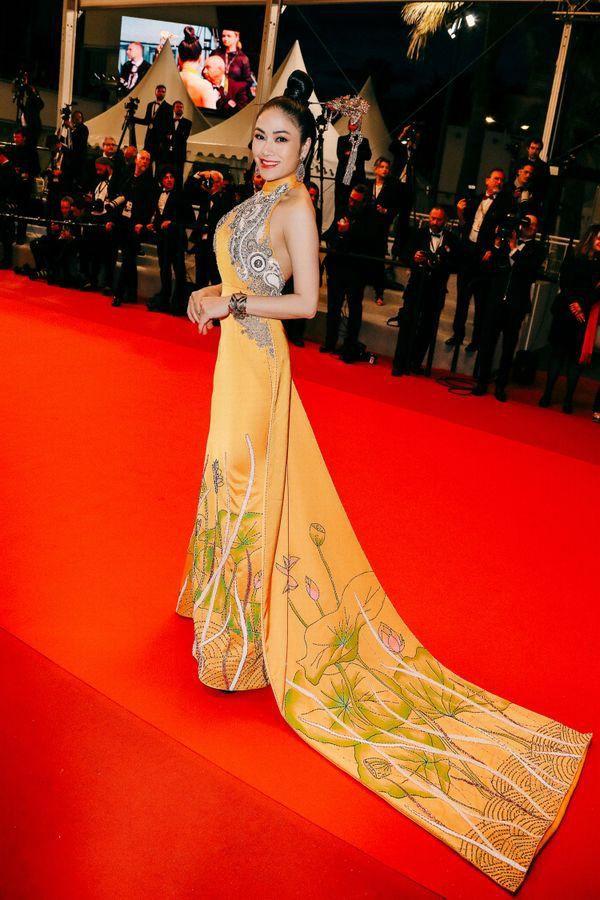 Khắc hẳn Ngọc Trinh, Nhã Phương, Tuyết Nga, Lý Nhã Kỳ khiến fan tự hào vì mang văn hóa Việt tới Cannes Ảnh 12