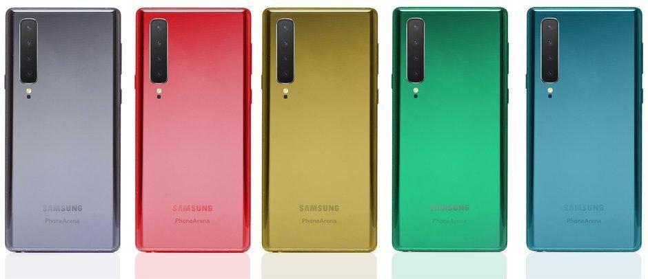 Bản dựng Galaxy Note 10 siêu đẹp với 4 camera dọc Ảnh 6
