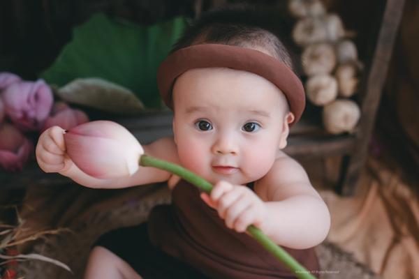 Bộ ảnh em bé bên hoa sen 'đốn tim' ngàn người xem Ảnh 8