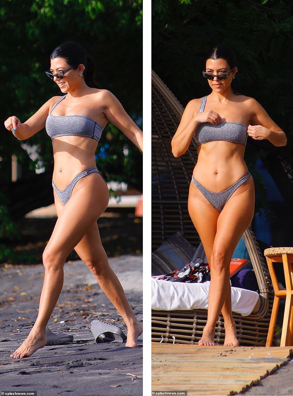 Chị cả nhà Kardashian 'thiêu đốt' bãi biển trong kỳ nghỉ cùng gia đình Ảnh 2